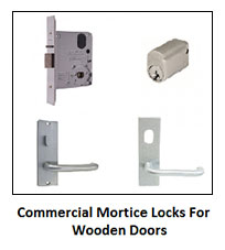 Penrith Locksmiths provides commercial mortice locks for wooden doors.